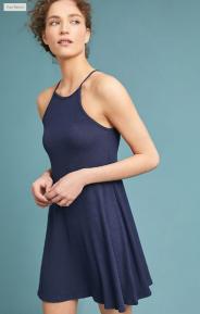 anthro blue dress